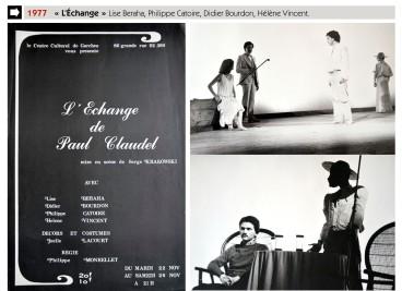 1977-l'Échange-Paul Claudel-Centre-Culturel-Garches-Archives Serge Krakowski