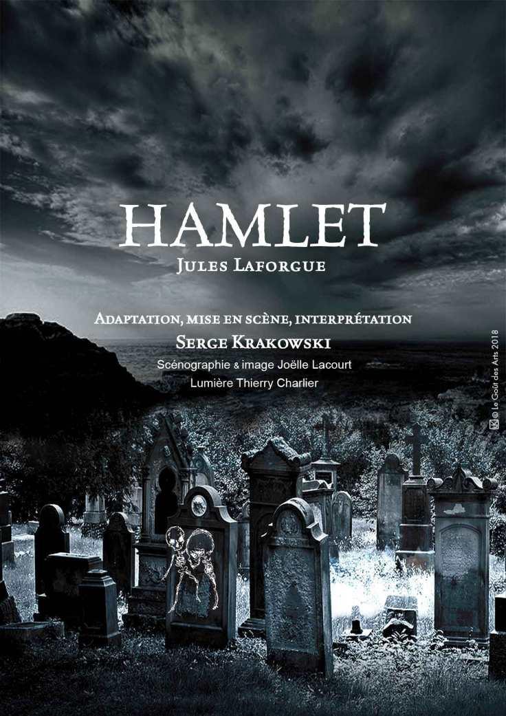Affiche-Hamlet de Jules Laforgue-Interprete Serge Krakowski-2018